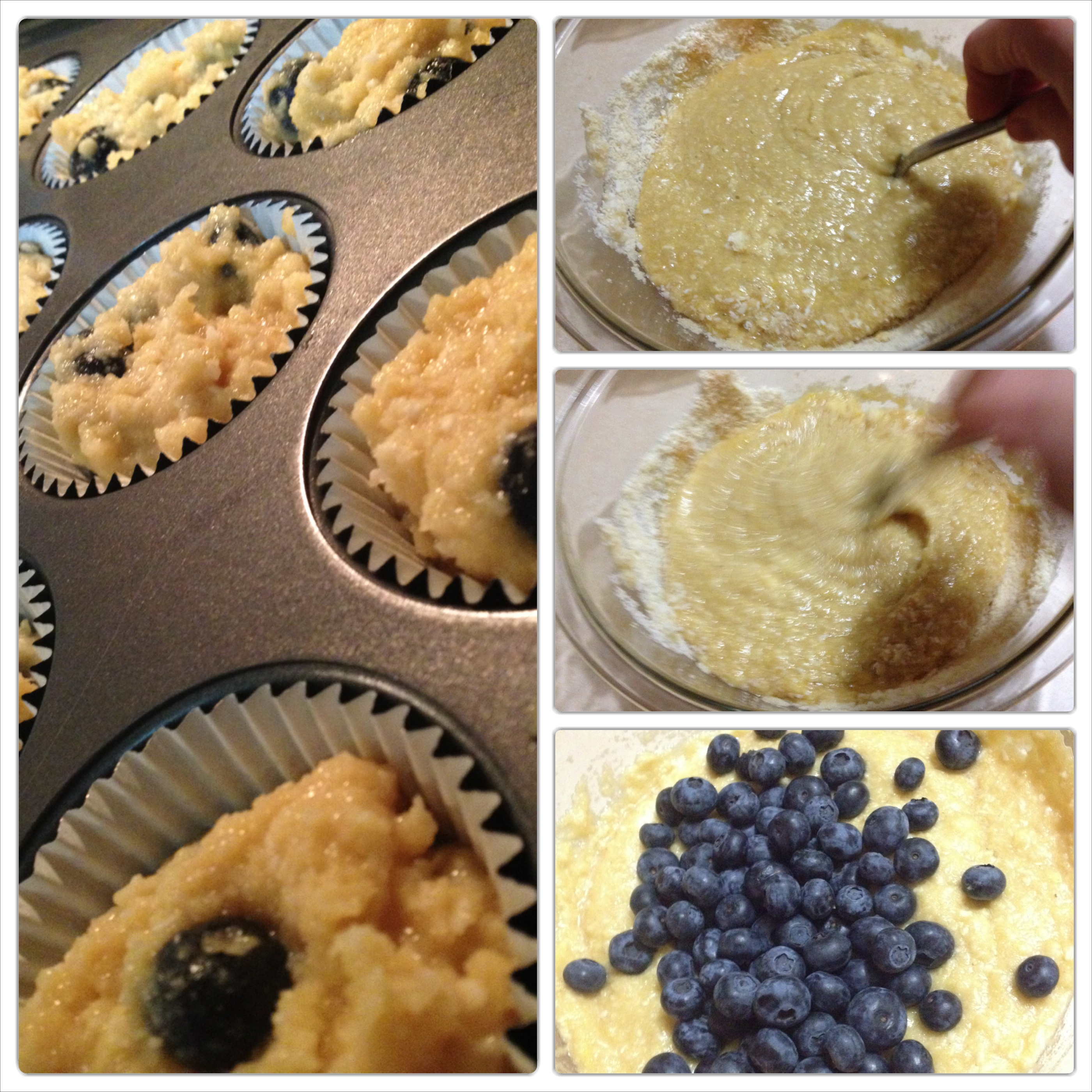 Got 10 minutes? Let's make some Blueberry-Coconut Muffins ...