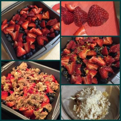 Strawberry Blueberry Cobbler 1